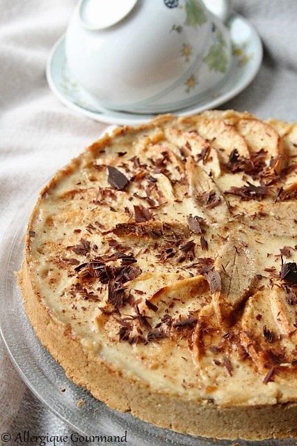 tarte aux pommes à la crème de pommes sans gluten sans lait sans oeufs