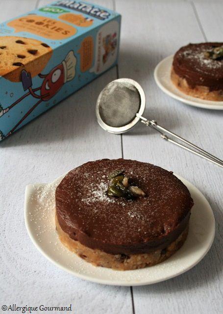 Tartelettes cookies chocolat sans gluten sans lait sans oeufs