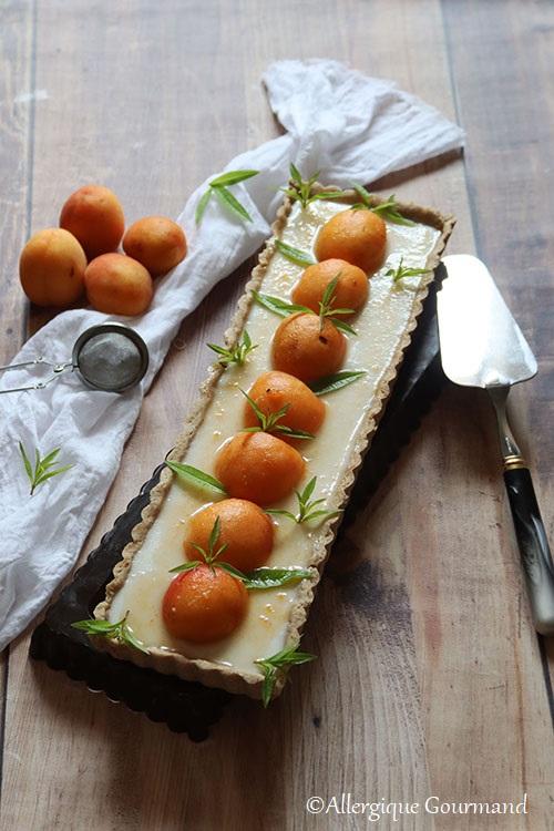 Tarte abricots panna cotta verveine