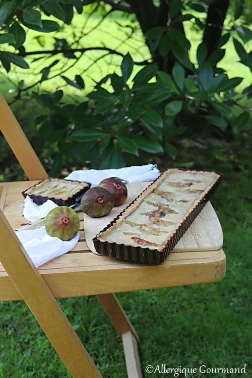 tarte aux figues sans gluten, sans lait, sans œufs