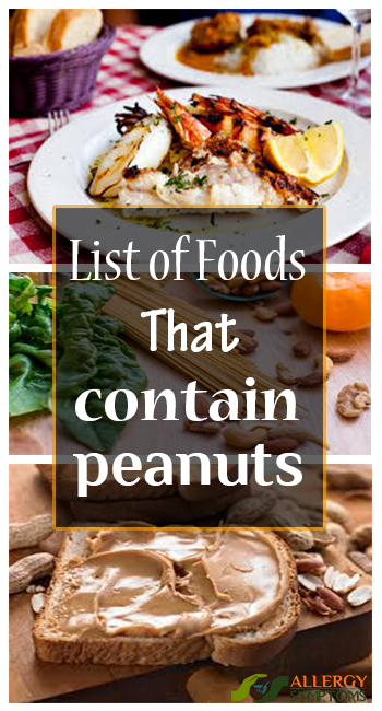 List of Foods that Contain Peanuts