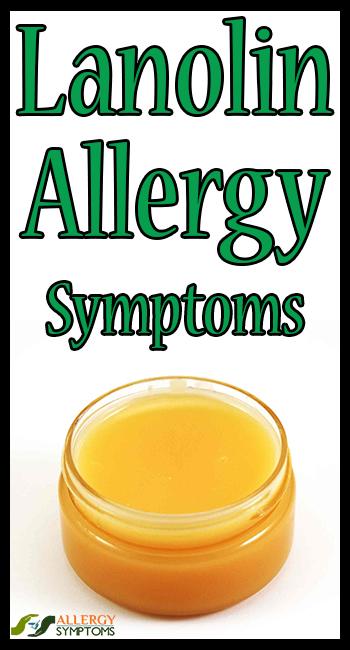 lanolin allergi symptom