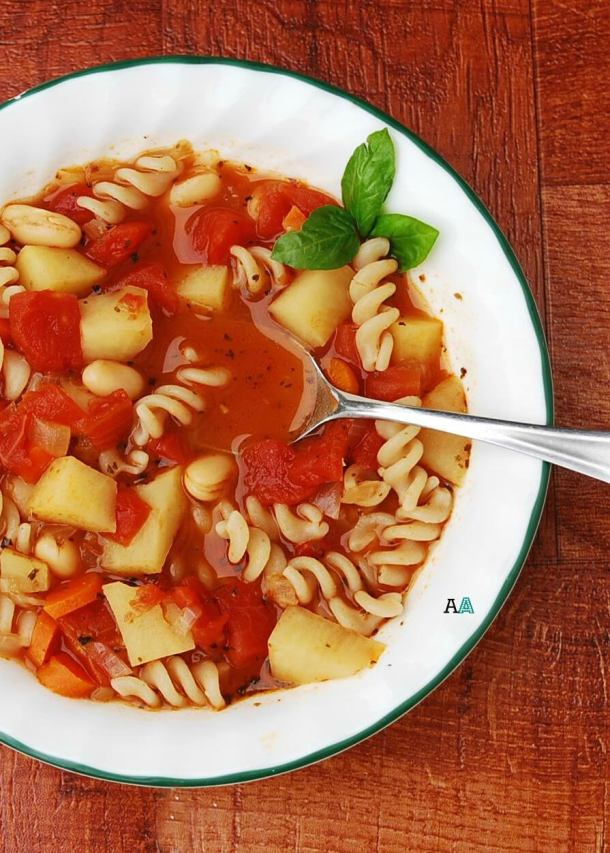 Slow Cooker Minestrone Soup, DF, GF, Soy, Wheat, Dairy, Egg & Peanut/Tree Nut Tree, Top 8 Free, Vegan option