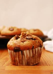 Blender Oatmeal Banana Chocolate Chip Muffins