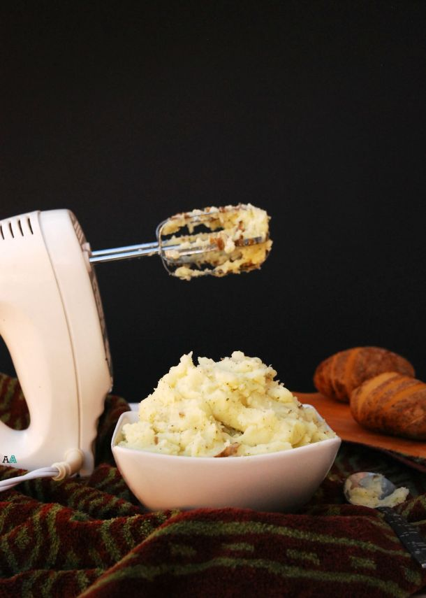 dairy-free garlic parsley mashed potatoes