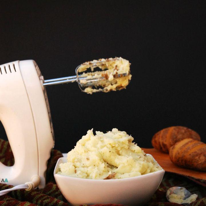 Dairy-Free Garlic Parsley Mashed Potatoes (Top 8 Free, Vegan too!)