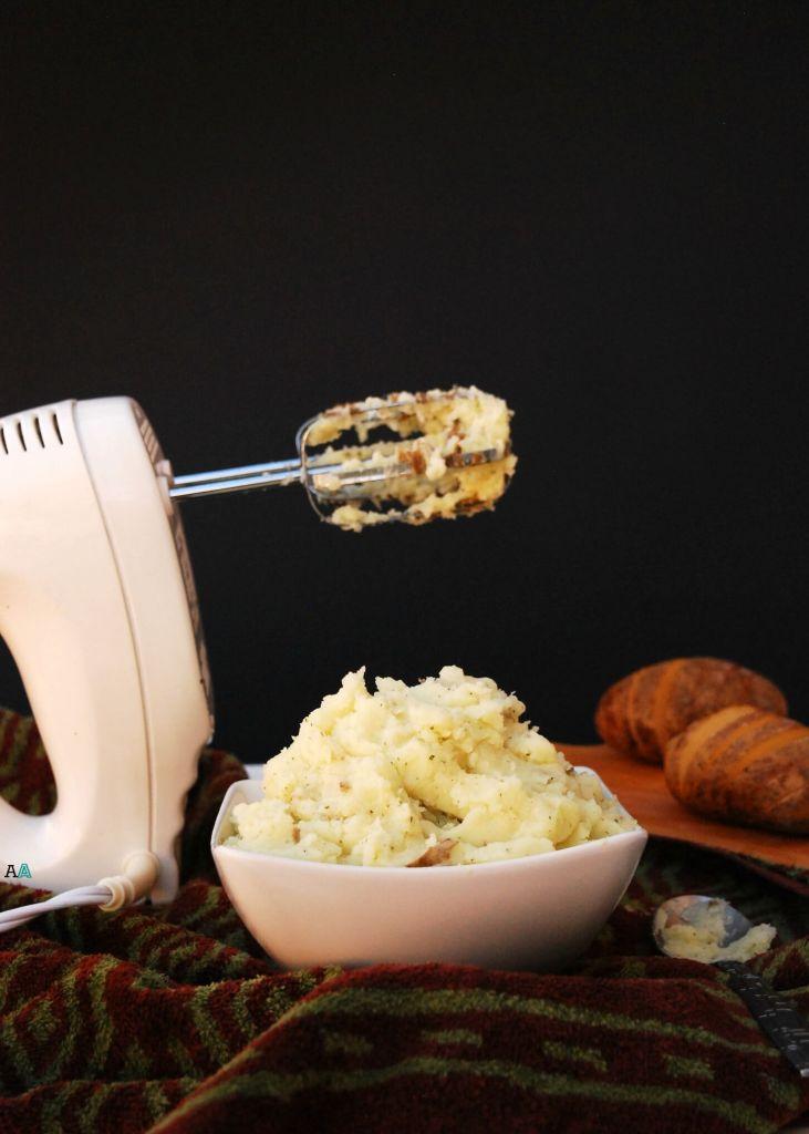 dairy-free garlic parsley mashed potatoes