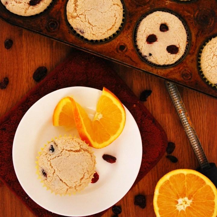 Cranberry Orange Muffins (GF, DF, Egg, Peanut/Tree nut, Soy Free, Vegan, Top 8 Free)