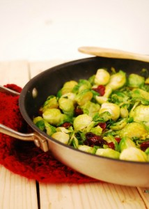 vegan Brown Sugar Brussels Sprouts with Craisins by Allergy Awesomeness