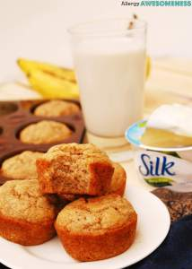 Banana Muffins (GF, DF, Egg, Peanut/Tree nut Free, Vegan) copyright Allergy Awesomeness