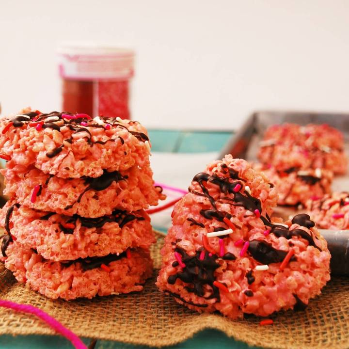 Valentine Rice Krispies (Dairy, Egg, Soy, Peanut/Tree nut Free, Top 8 Free, Vegan) copyright by Allergy Awesomeness