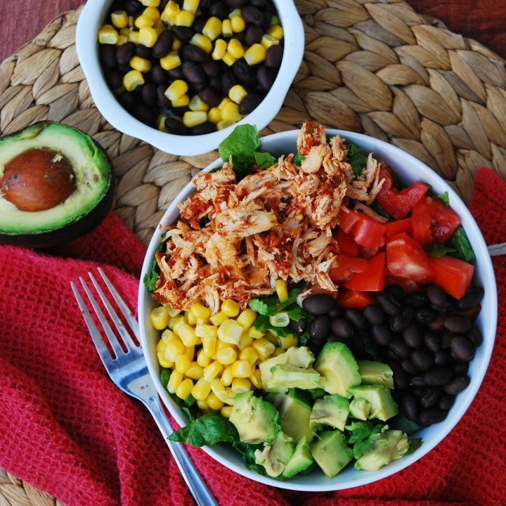 Slow Cooker Salsa Chicken Salads (GF, DF, Egg, Soy, Peanut, Tree nut Free, Top 8 Free)