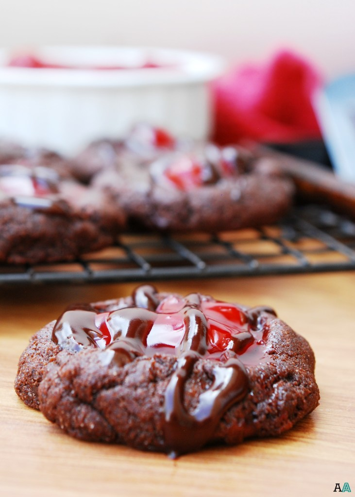 Cherry Chocolate Thumbprint Cookies (GF, DF, Egg, Soy, Peanut, Tree nut Free, Top 8 Free, Vegan) by Allergy Awesomeness
