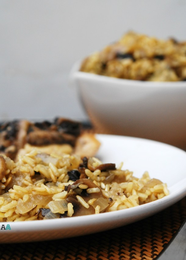 Baked Mushroom Rice (GF, DF, Egg, Soy, Peanut, Tree nut Free, Top 8 Free) Recipe by Allergy Awesomeness