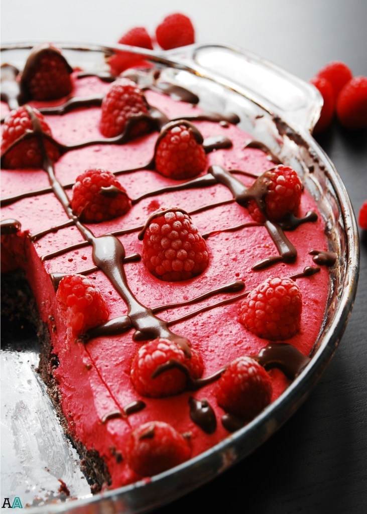 Frozen Raspberry Pie (GF, DF, Egg, Peanut, Tree nut Free, Vegan) Dessert recipe by AllergyAwesomeness.com