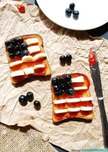 Patriotic Toast (Gluten, Dairy, Egg, Soy, Peanut, Tree nut Free, Vegan, Top 8 Free) Recipe by AllergyAwesomeness.com