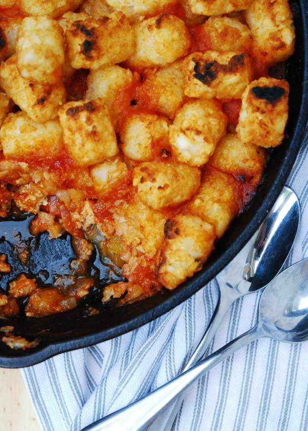 Skillet Slopey Joe Casserole (GF, DF, Egg, Soy, Peanut, Tree Nut Free) A one pot dinner recipe by Allergy Awesomeness