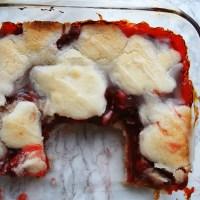 Cherry Cobbler (Gluten, Dairy, Egg, Soy, Peanut Tree nut Free; Vegan, Top 8 Free)