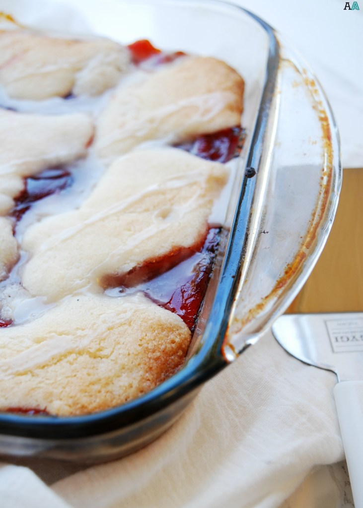 Cherry Cobbler (Gluten, Dairy, Egg, Soy, Peanut Tree nut Free; Vegan, Top 8 Free) Dessert recipe by AllergyAwesomeness.com