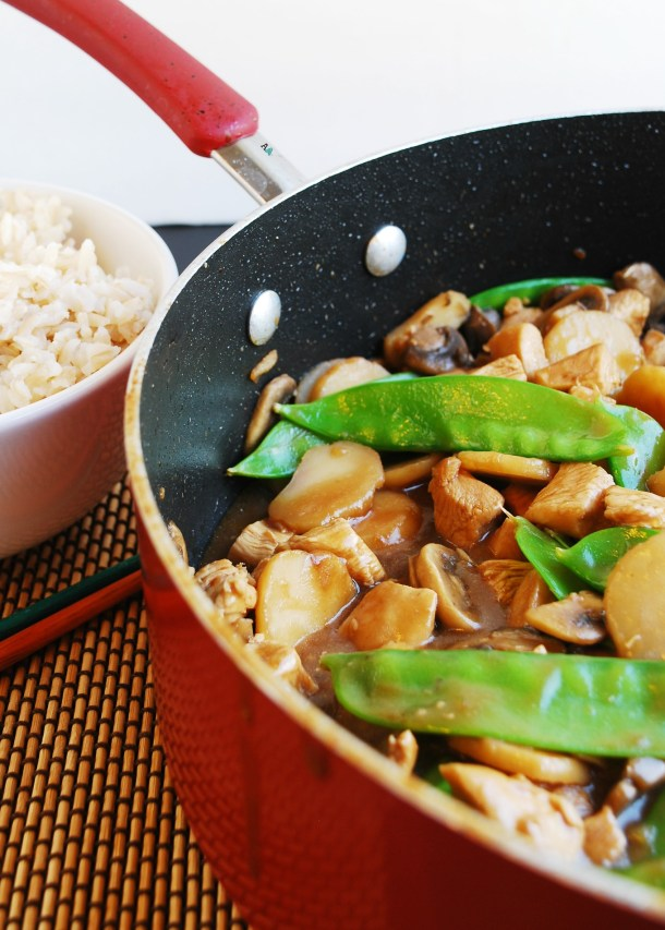 30 Minute Moo Goo Gai Pan (Gluten, dairy, egg, peanut adn tree nut free) Dinner recipe by AllergyAwesomeness.com