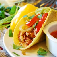 Slow Cooker Salsa Chicken Tacos (Gluten, Dairy, Egg, Soy, Peanut & Tree nut Free; Top 8 Free)