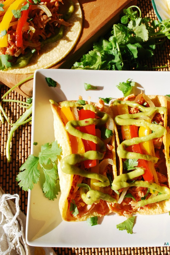 Slow Cooker Salsa Chicken Tacos (Gluten, Dairy, Egg, Soy, Peanut & Tree nut Free; Top 8 Free) Easy dinner recipe by AllergyAwesomeness.com