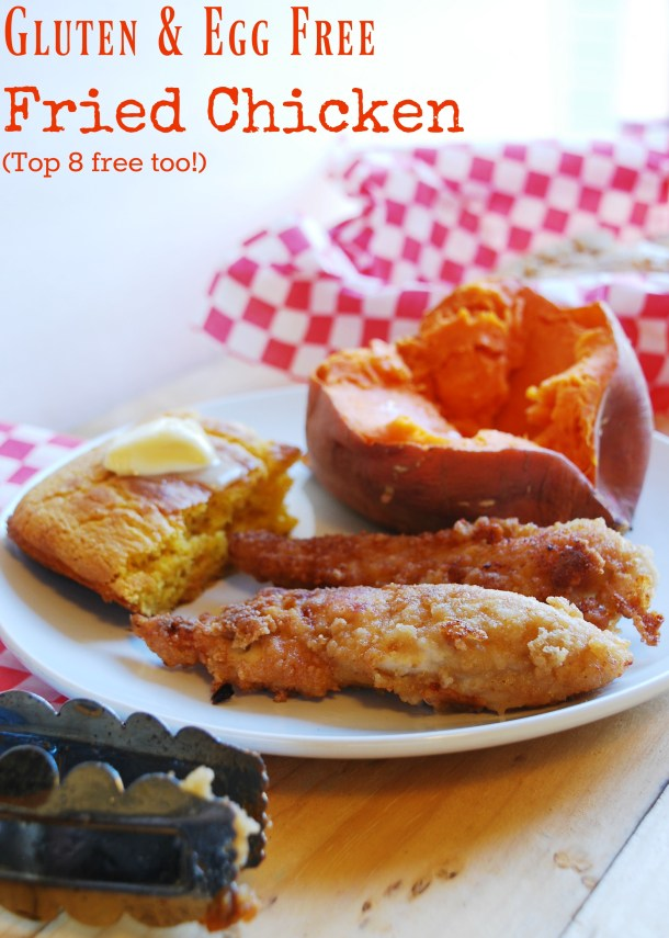 gluten free, dairy free and egg free fried chicken recipe by AllergyAwesomeness.com