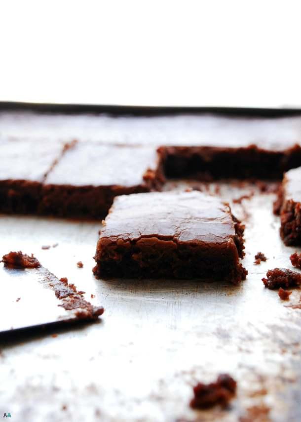 Chocolate Sheet Cake (Gluten, dairy, egg, soy, peanut and tree nut free; top 8 free; vegan) Dessert recipe by AllergyAwesomeness.com