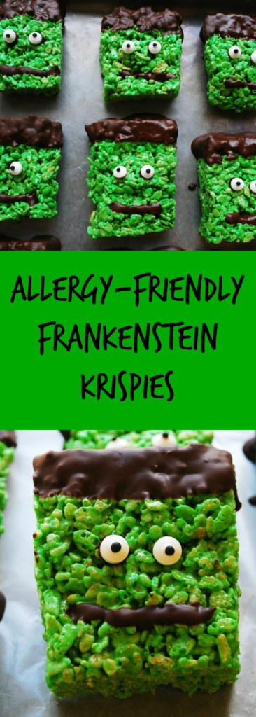 Allergy-friendly Frankenstein Krispies Recipe by AllergyAwesomeness.com