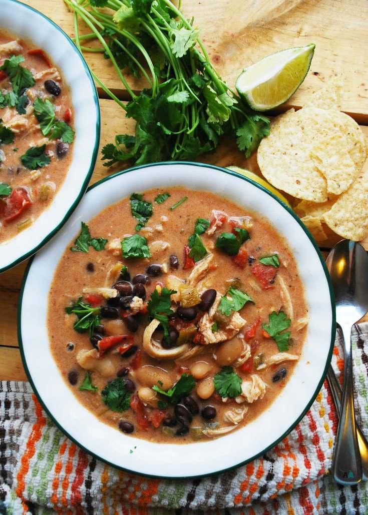 Slow Cooker Green Chile Enchilada Soup (Gluten, dairy, egg, peanut & tree nut free)