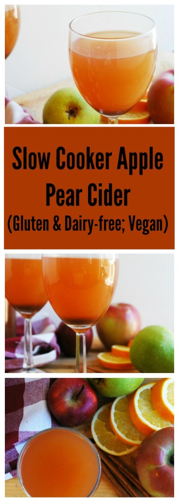 Slow Cooker Apple Pear Cider (Gluten free & Vegan) Drink recipe by AllergyAwesomeness.com