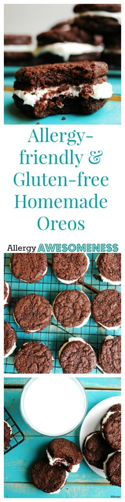 Allergy-friendly and gluten-free homemade oreos. Cookie recipe by AllergyAwesomeness.com