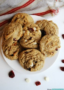 gluten-free-dairy-free-white-chocolate-oatmeal-craisin-cookies