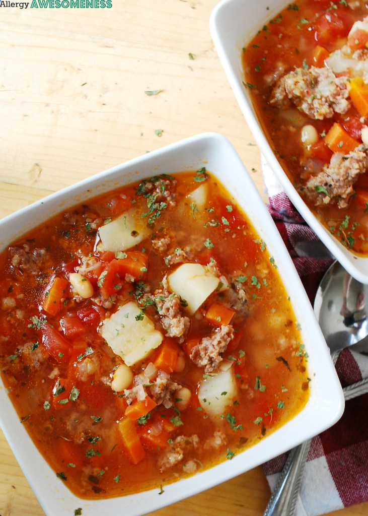 Potato sausage soup gluten dairy egg soy peanut tree nut gluten dairy free potato sausage soup dinner recipe by allergyawesomeness forumfinder Image collections
