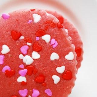 Valentine Strawberry Frozen Yogurt Cups (DF) by AllergyAwesomeness.com