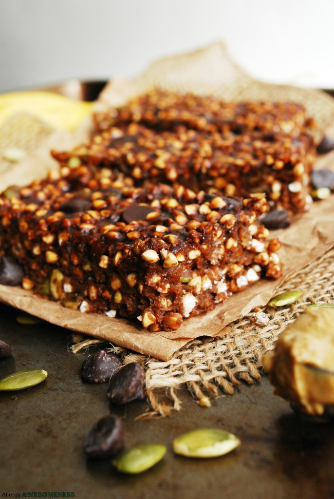 allergy-friendly homemade granola bars by AllergyAwesomeness