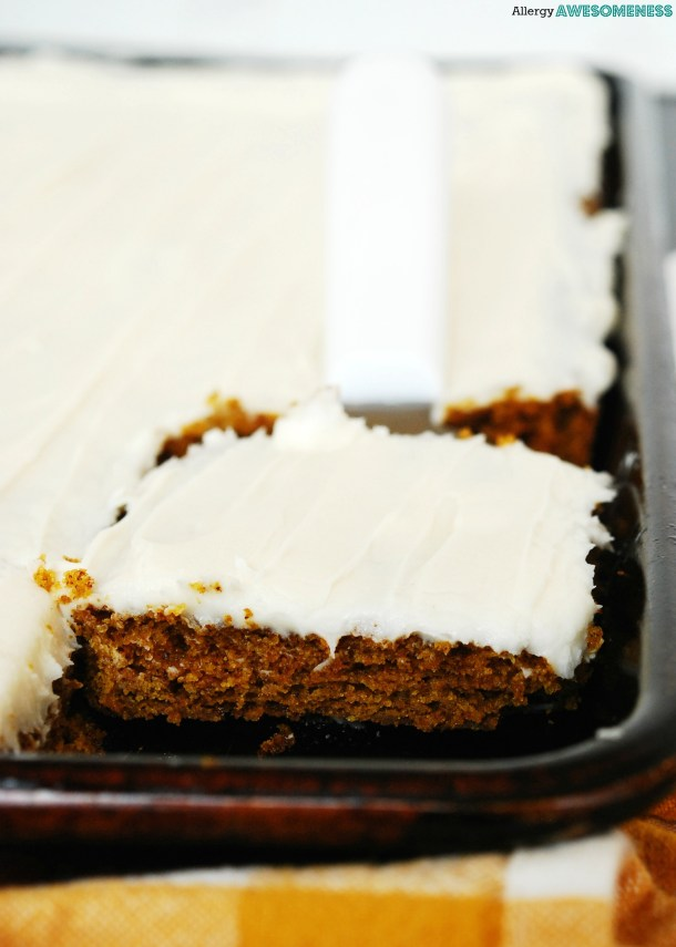 Allergy Friendly Carrot Sheet Cake Gluten Dairy Egg