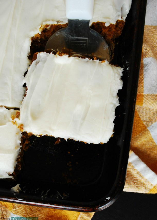 Allergy-friendly carrot cake
