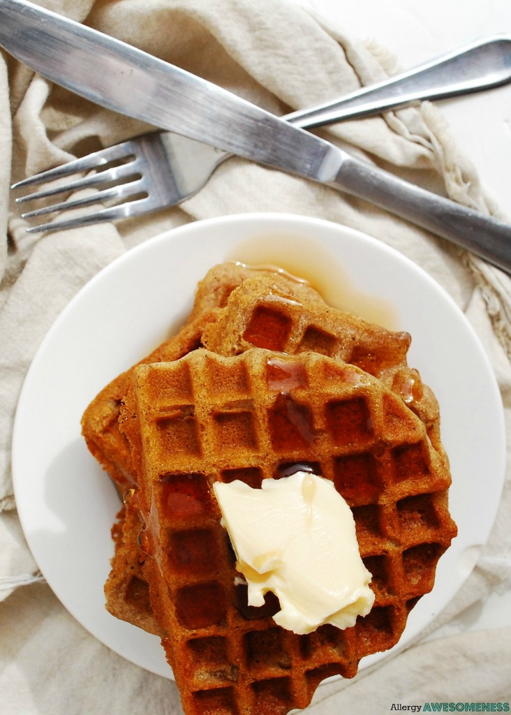 Allergy-friendly waffles that are top-8-free