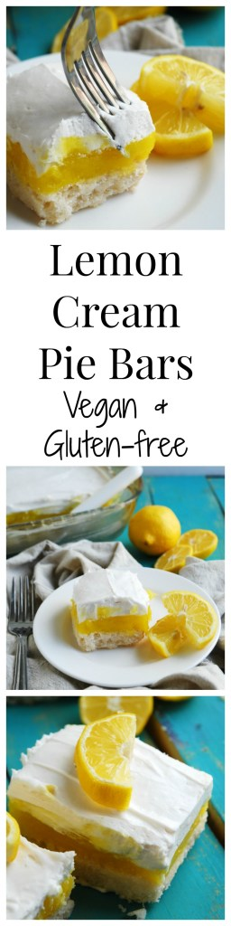 Lemon Cream Pie Bars (Gluten-free, Vegan) Dessert recipe by AllergyAwesomeness