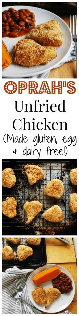 Oprah's Unfried Chicken Recipe made Allergy-friendly by AllergyAwesomeness