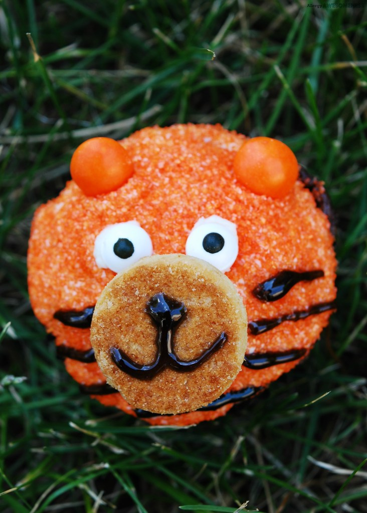 Egg-free Tiger Birthday Cupcakes by Allergy Awesomeness