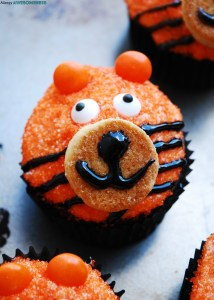 DIY Tiger Birthday Cupcakes