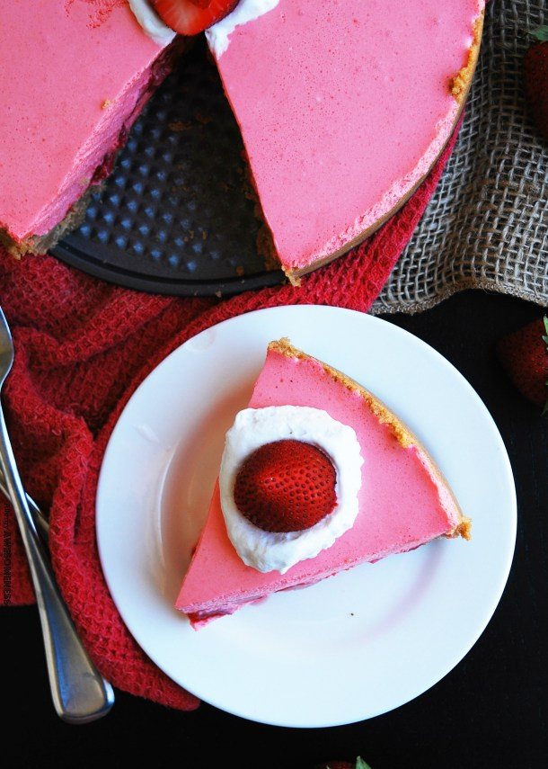 Dairy-free No Bake Strawberry Pie