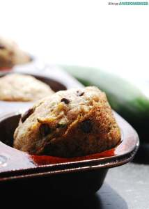 Vegan Chocolate Chip Zucchini Muffins