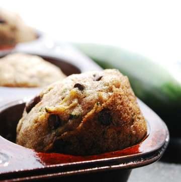 Vegan Chocolate Chip Zucchini Muffins