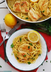 Dairy and Gluten-free Creamy Lemon Chicken Pasta Recipe