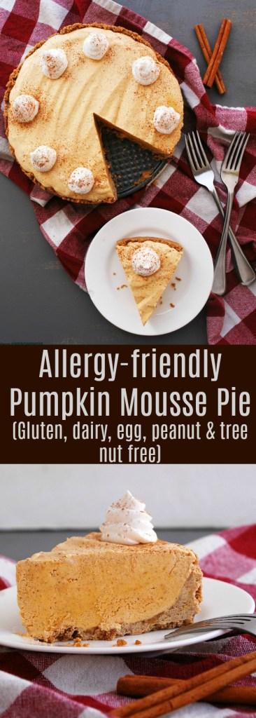 Allergy-friendly Pumpkin Mousse Pie Recipe by AllergyAwesomeness