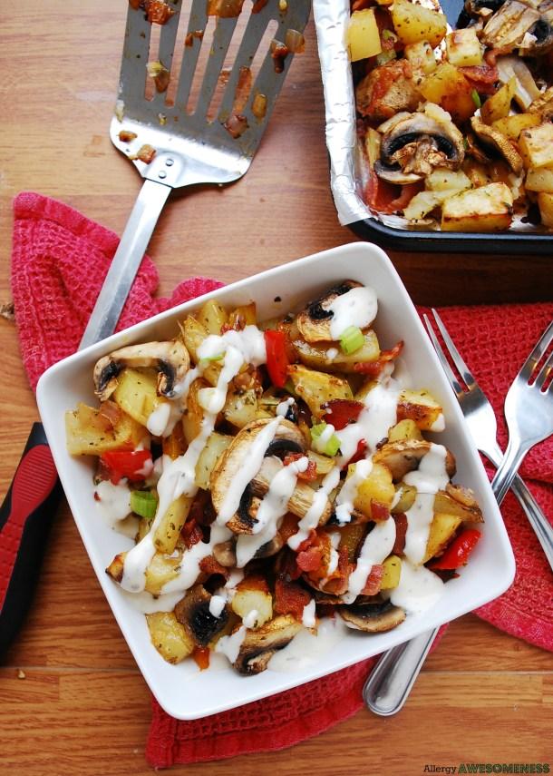 bacon potato ranch bake