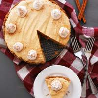 Allergy-friendly Pumpkin Mousse Pie (Gluten, dairy, egg, peanut & tree nut free; vegan)